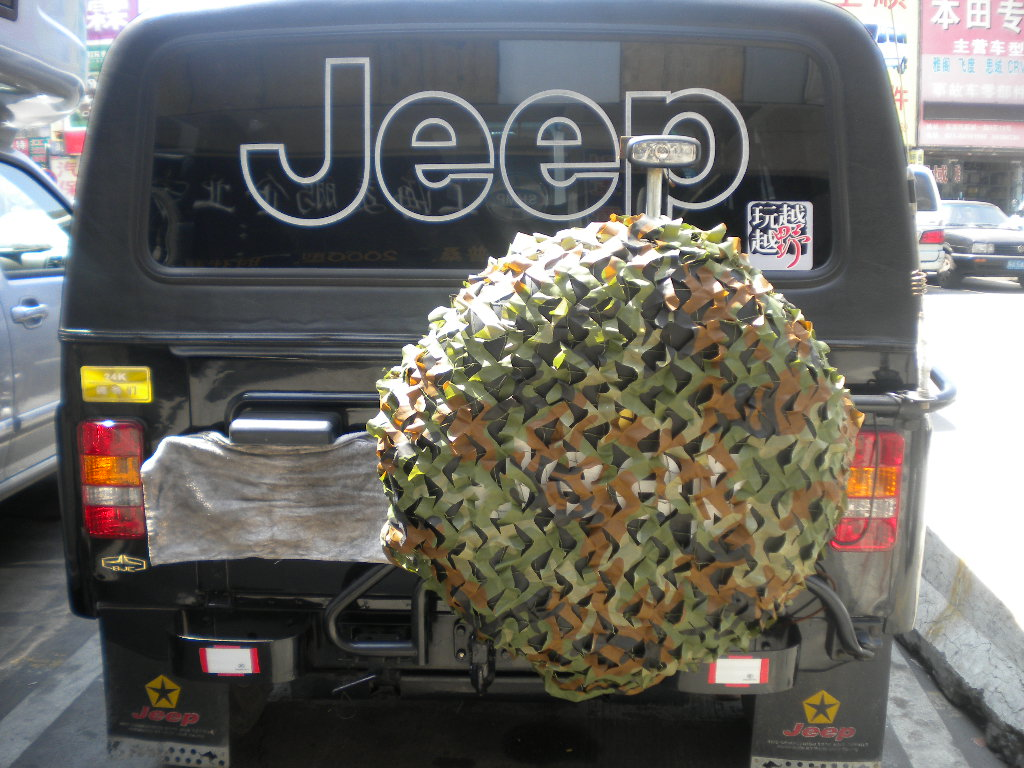 Camouflage Jeep Tire Cover