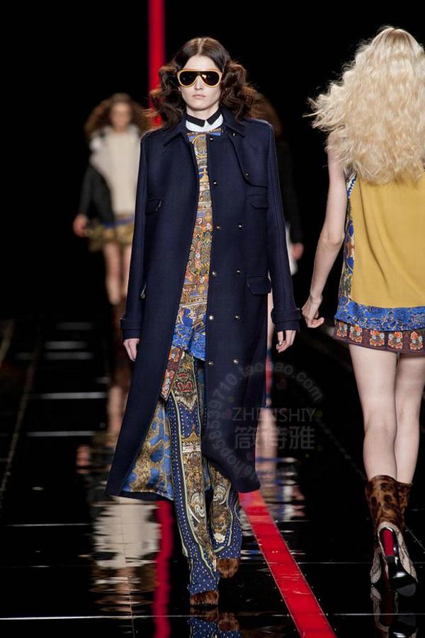 高端定制最新款秋冬大衣长款双排扣修身型羊绒羊毛大衣外套图片