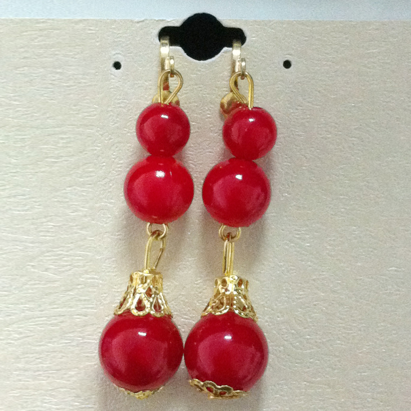 Yarn is the bride wedding jewelry exquisite red pearl jewelry accessories QQ005 eardrop bride qipao