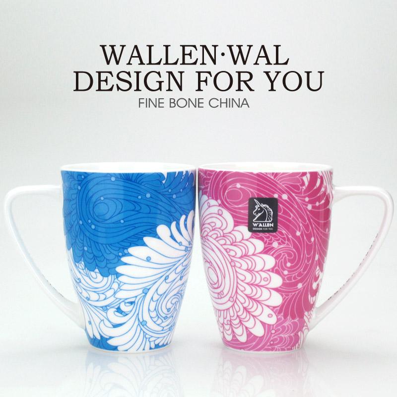 特价!WAL情侣杯 骨瓷杯 对杯 结婚对杯 骨瓷杯子自用超值 24对入