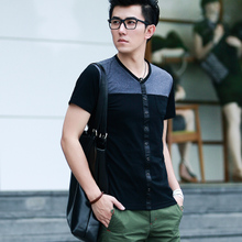 [Summer Specials] men's short-sleeved t-shirt tide male Korean version of casual short-sleeved t-shirt men short sleeve men T008