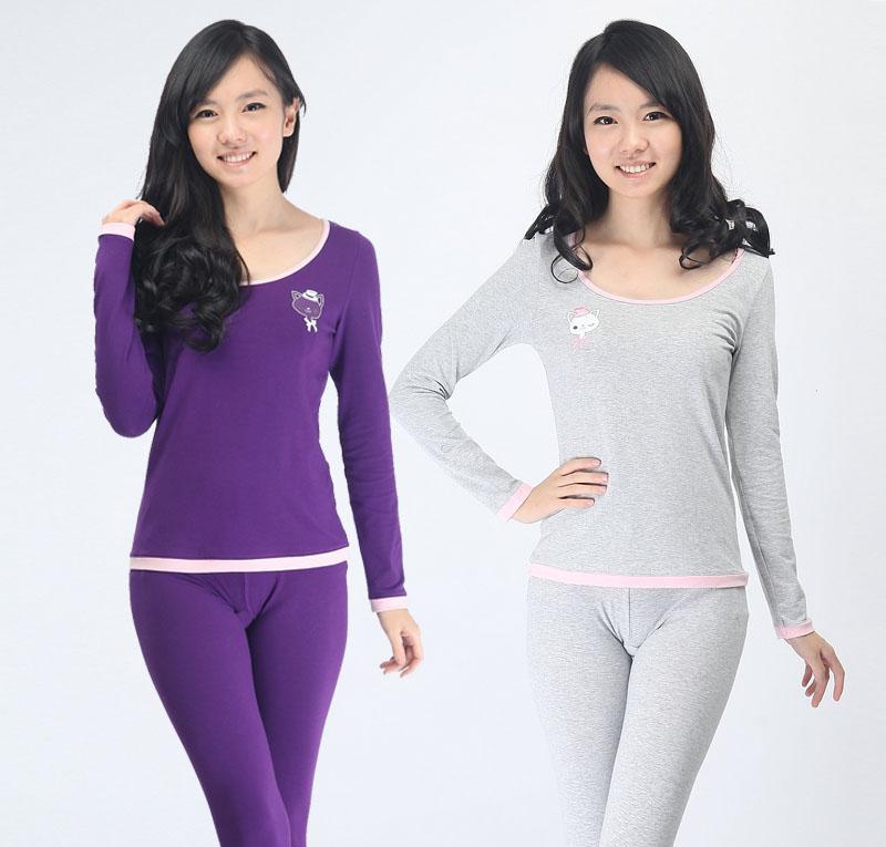 Комплект нижней одежды Miiow Девушки ||property2048150|| Длинный рукав Длинные брюки % Лайкра % Девушки