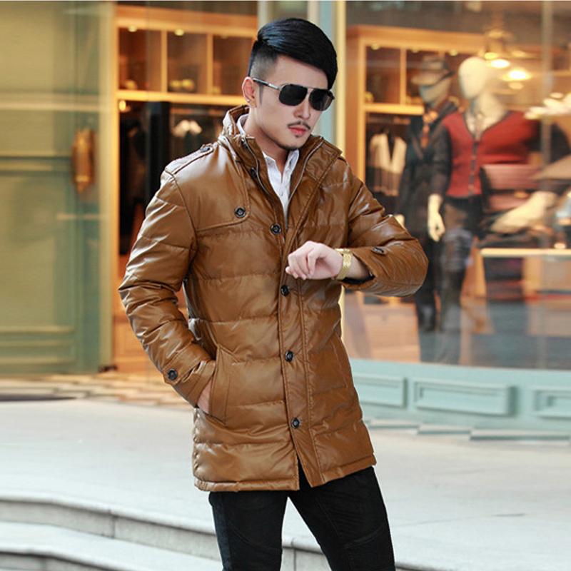 男士羽绒服森马男冬装中长款 轻薄男装以纯羽绒服正品图片