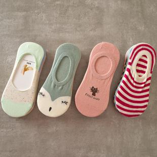 5双装 船袜女纯棉超浅口隐形 薄款防滑夏季夏天袜子女短袜低帮
