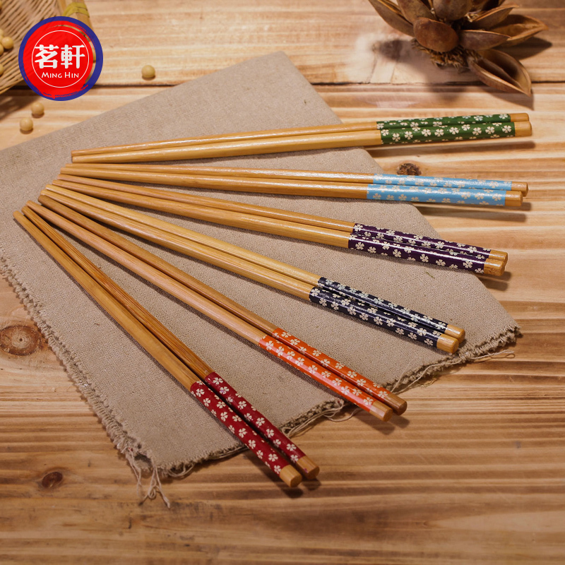 筷子碳化 质朴 简约ZAKKA 景德镇筷子5种款樱花竹筷
