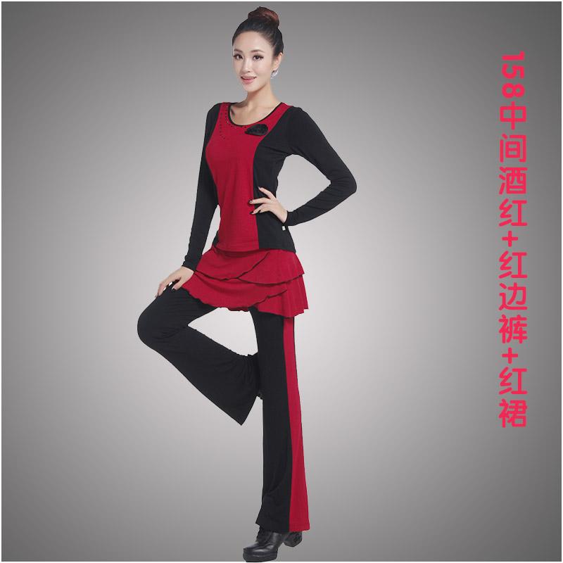 Цвет: 158 среднего брюки + красный + красный красный платье