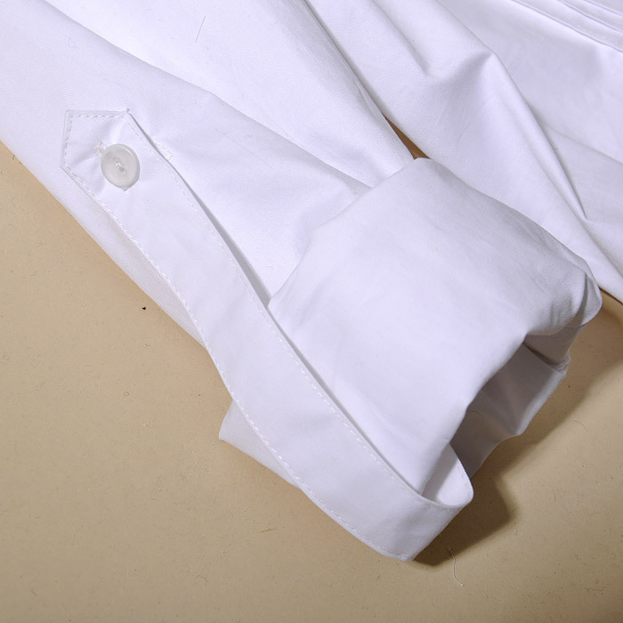 женская рубашка zbw0301 ZZ 2011OL [zb03001] Городской стиль Длинный рукав Однотонный цвет