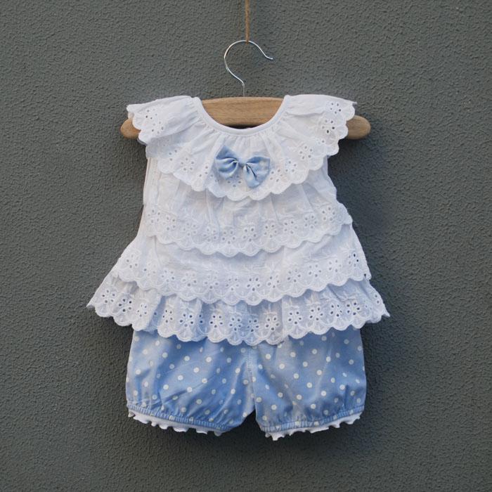 女嬰兒服裝女寶寶衣服童裝0-6個月1歲2歲3歲女童女寶寶夏裝套裝