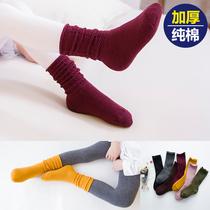 儿童袜子纯棉毛圈韩版保暖毛巾男童女童袜子堆堆袜3-5岁7-9-12岁