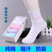 袜子女中筒袜秋冬纯棉运动冬季低帮浅口夏季全棉防臭棉袜学生短袜