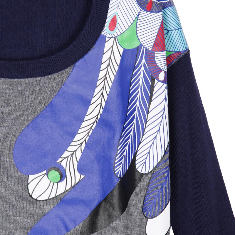 Свитер женский Liebo 24160016 Полиэстер Осень 2012 Длинный рукав Классический рукав О-вырез