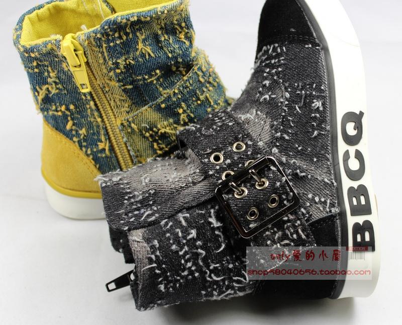特价正品宝贝传奇爆款 韩版儿童牛仔帆布鞋 男女童鞋 26-37码