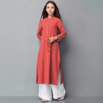 复古唐装中国风旗袍上衣 盘扣中式禅服
