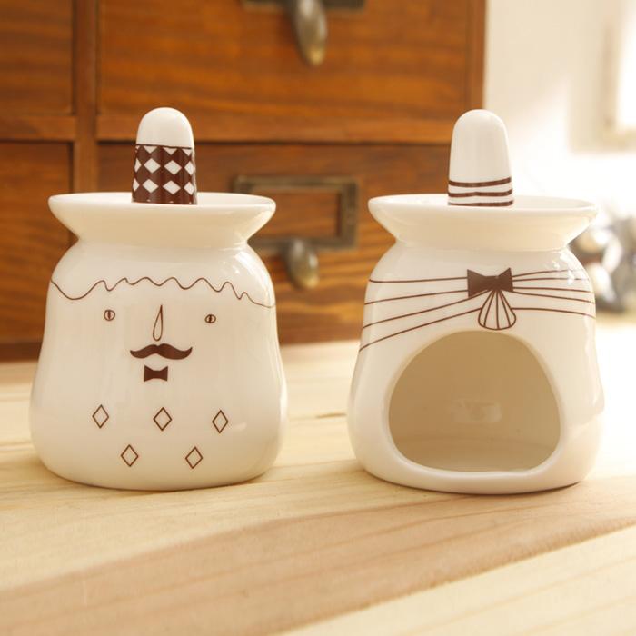 Подсвечник · Zakka Подсвечник для свеч в форме куска Стиль минимализм Из керамики