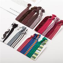 韩国头饰品印花打结继承者橡皮筋发圈日韩版发饰手环发绳头绳套装