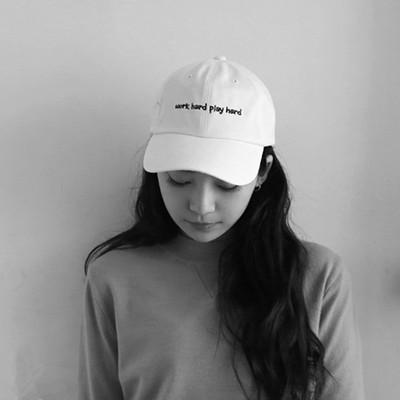 韩版ulzzang复古字母刺绣鸭舌帽女夏天棒球帽平沿帽嘻哈遮阳帽子