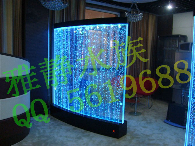 Acrylic fish tank water screen curtain water curtain wall manufacturers selling bubble - Fish tank partition wall ...