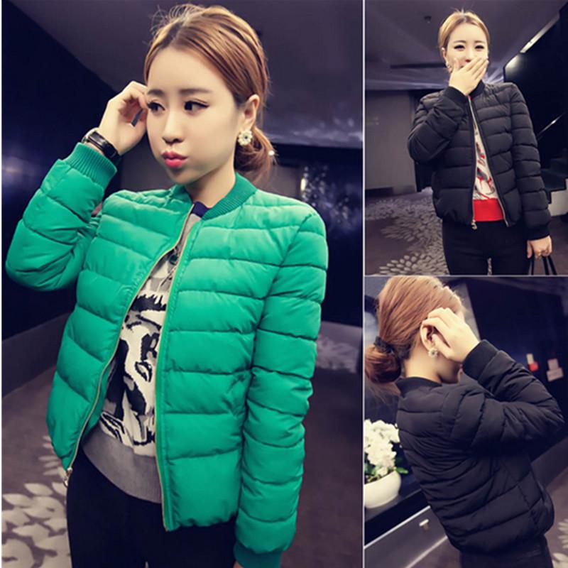2017 новый зима краткое модель пальто женщина обтягивающий стройнящий длинный рукав корейский женщины ватник мало хлопок одежда студент женщина волна