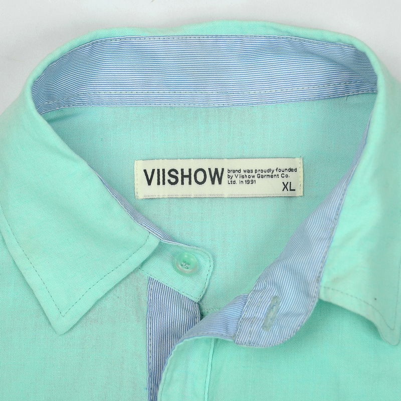 Viishow Linen Solid Casual Long Sleeve Lapel Men Shirt
