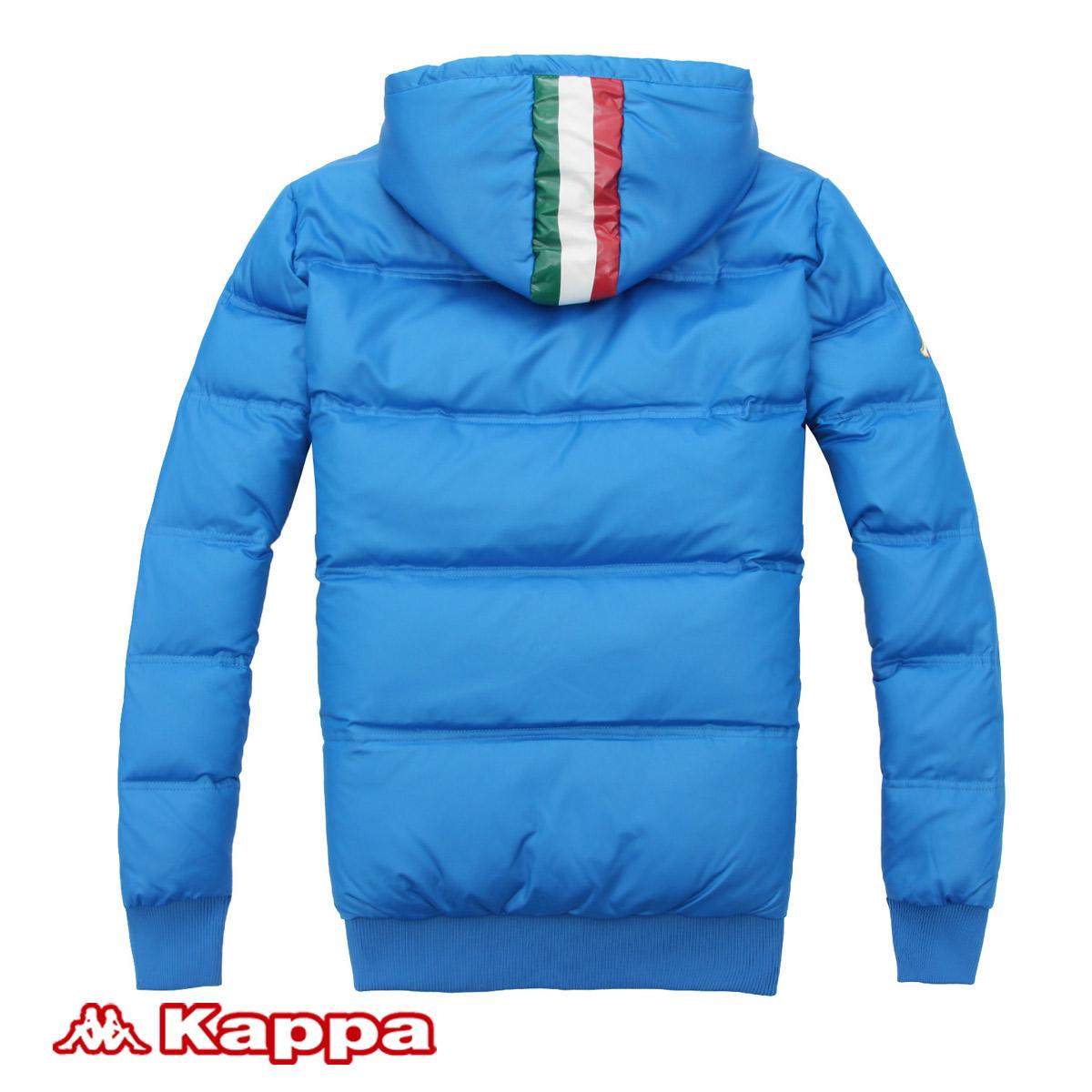Спортивный пуховик Kappa k0172yy52 Для мужчин Для спорта и отдыха Логотип бренда, Надпись Молния