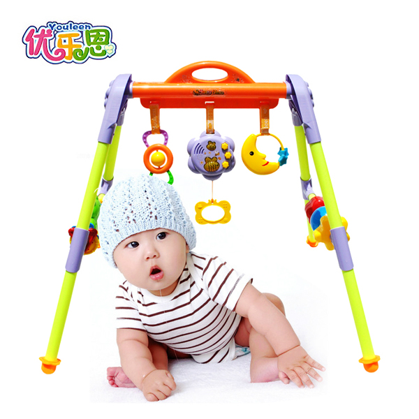 Newborn Baby Toys 0 1 Years Old Baby Music Bee Fitness Fitness Frame Baby Rattles
