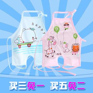 肚兜 婴儿衣服夏天纯棉男女宝宝夏季薄款连腿新生儿童兜兜护肚围