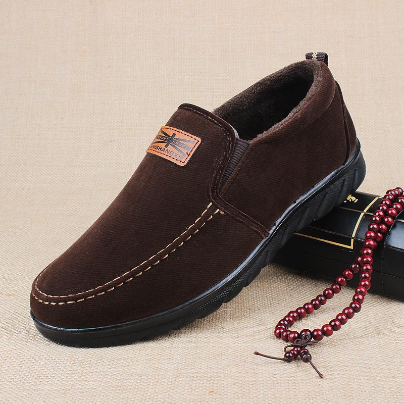老北京布鞋男冬季加绒加厚棉鞋男士运动休闲防滑中老年爸爸鞋