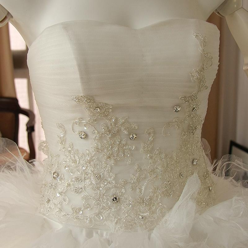 Свадебное платье 212 Сетчатый материал Длинный шлейф