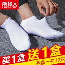 南极人袜子男士纯棉夏季薄款船袜男低帮运动防臭浅口网眼短筒袜