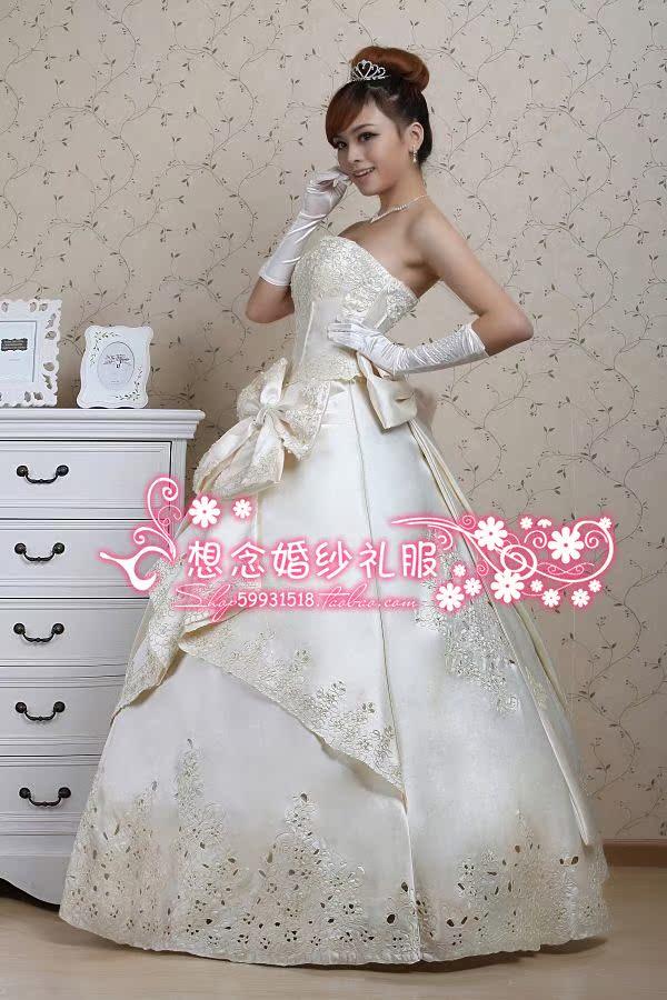 Свадебное платье h1001 2012 Плотная ткань Принцесса с кринолином