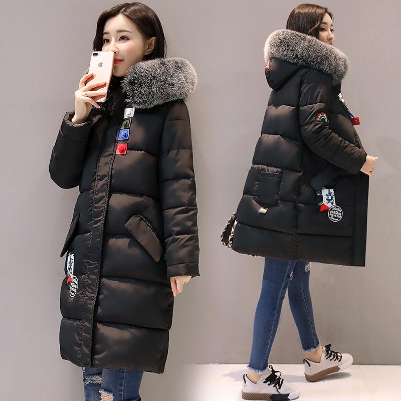 2017 мягкий сестра длина новый корейский воротник сгущаться тонкий большой двор студент хлопок одежда пальто