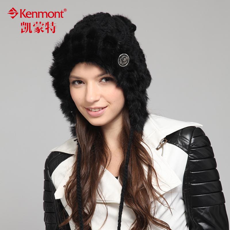 Головной убор Kenmont 1350 Вязаные/трикотажные шапки Смешанная кроличья шерсть Разное Женское Зима