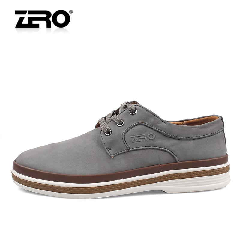 Демисезонные ботинки Zero f9896 Для отдыха Кожа Круглый носок Шнурок Зима