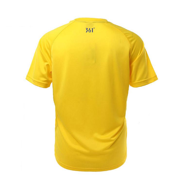 Спортивная футболка 361 361/5115121 A16 5115121 Стандартный Закругленный вырез Короткие рукава ( ≧35cm ) Органический хлопок Спорт и отдых Влагопоглощающая функция С логотипом бренда