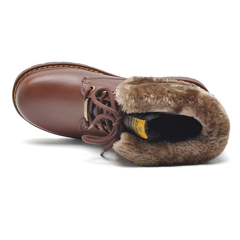 Ботинки мужские Boy Joy BL/5072 BOLE Для отдыха Круглый носок Кожа Вощеная кожа Зима