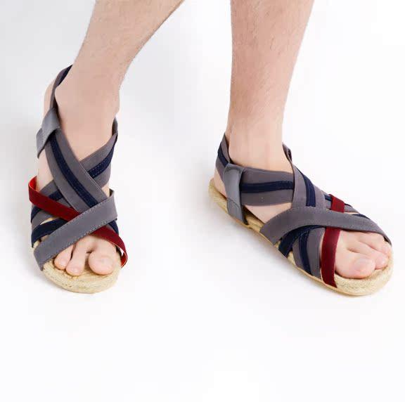 Сандали Mr.CYC квалифицированных! Цвет упругих дизайн мужской случайный сандалии xz4/3 Открытый носок Резинка Лето Пляжная обувь