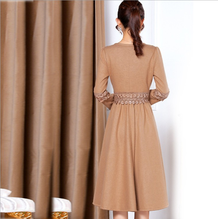 Женское платье Осень 2013 счетчики аутентичные элегантность художественного женские молодежные сплошной цвет краткое v шеи длинный рукав тонкий платье Осень 2013