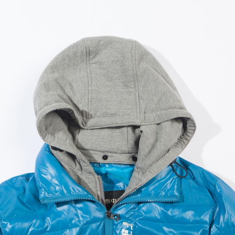 Пуховик мужской SNOW FLYING x1201011 Короткая (до пояса и выше) Съёмный капюшон Разное Однотонный цвет