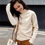 唐狮套头高领针织衫女2018春装新款毛衣女韩版保暖打底衫上衣冬潮