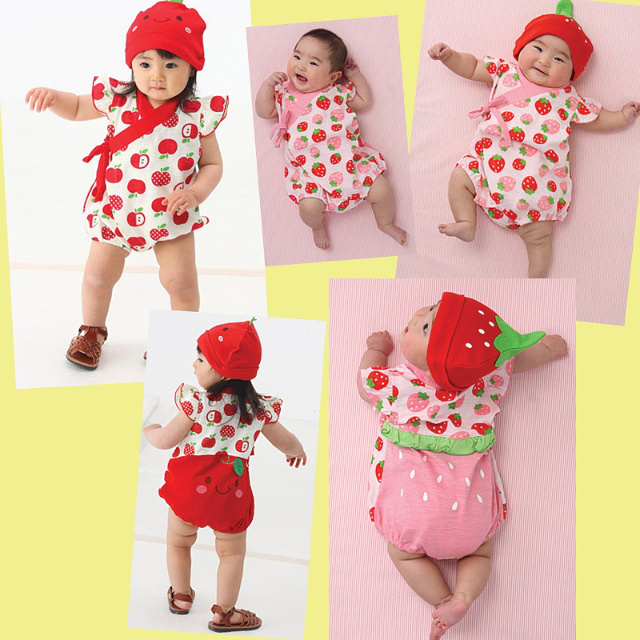 Howuay Cute Cartoon Printing Short Sleeve Cotton Baby Rompers