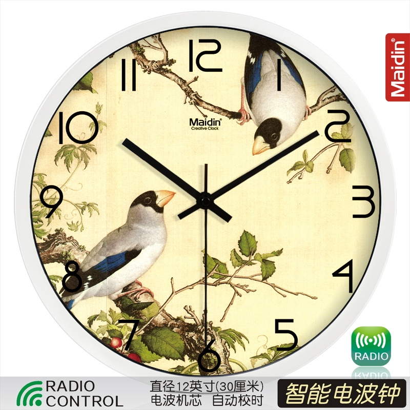 Цвет: Радиоуправляемые часы 12-дюймовый белый-495