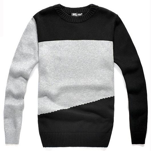 Цвет: Шею свитер смешанных цветов утолщаются