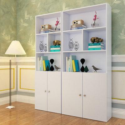 现代简约书架柜子自由组合储物柜置物架书房单个书柜儿童房书柜
