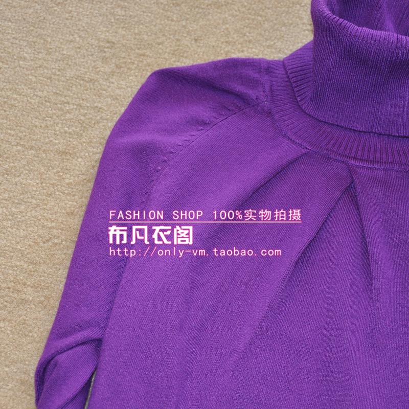 Трикотаж «Распродажа» универсальный сплошной цвет водолазка под без бретелек моды сделать цвета кофты/свитера-5 Классический рукав Высокий воротник