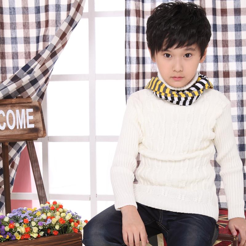 中大童高领毛衣针织衫