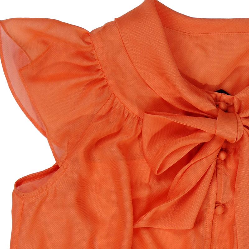женская рубашка OZZO 1121501017 OZZO2012 101017 Повседневный Короткий рукав Однотонный цвет Оборка