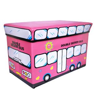 Цвет: Розовый двухэтажный автобус