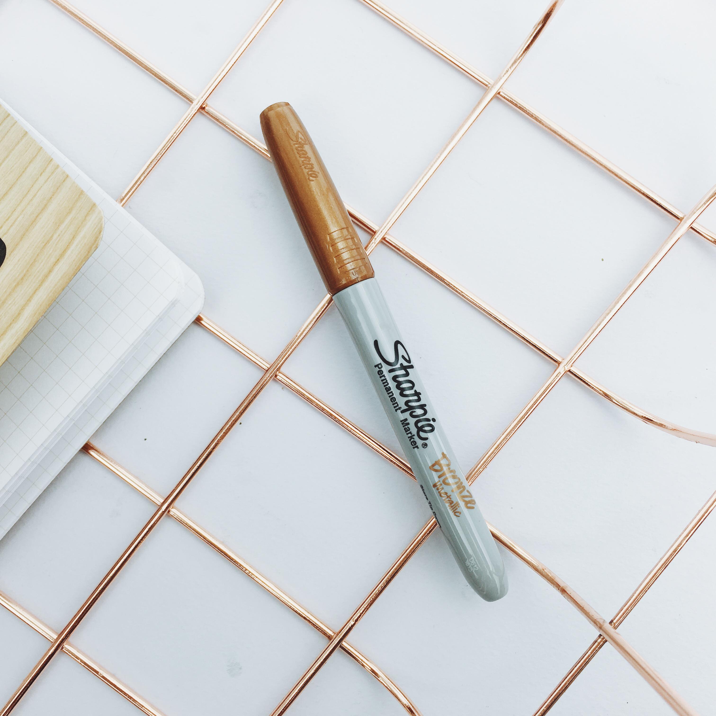 现货美国原产正品sharpie精细无尘记号笔单支金屬色簽字筆1.0mm
