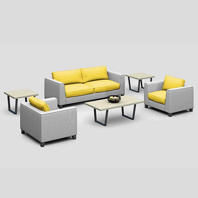 办公家具 商务沙发SF04布艺沙发 办公室简约休闲洽谈会谈沙发组合