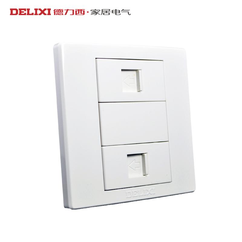 Розетка TV+телефон Delixi  CD230